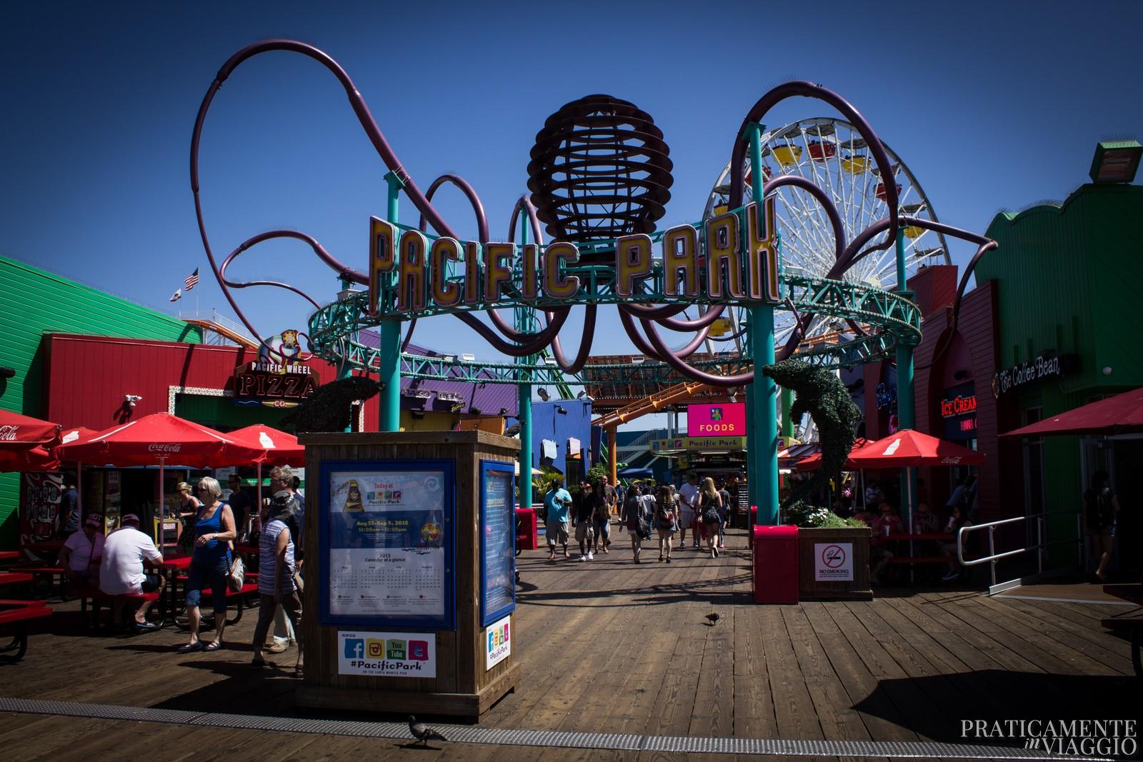 Pacific park sul Santa Monica Pier
