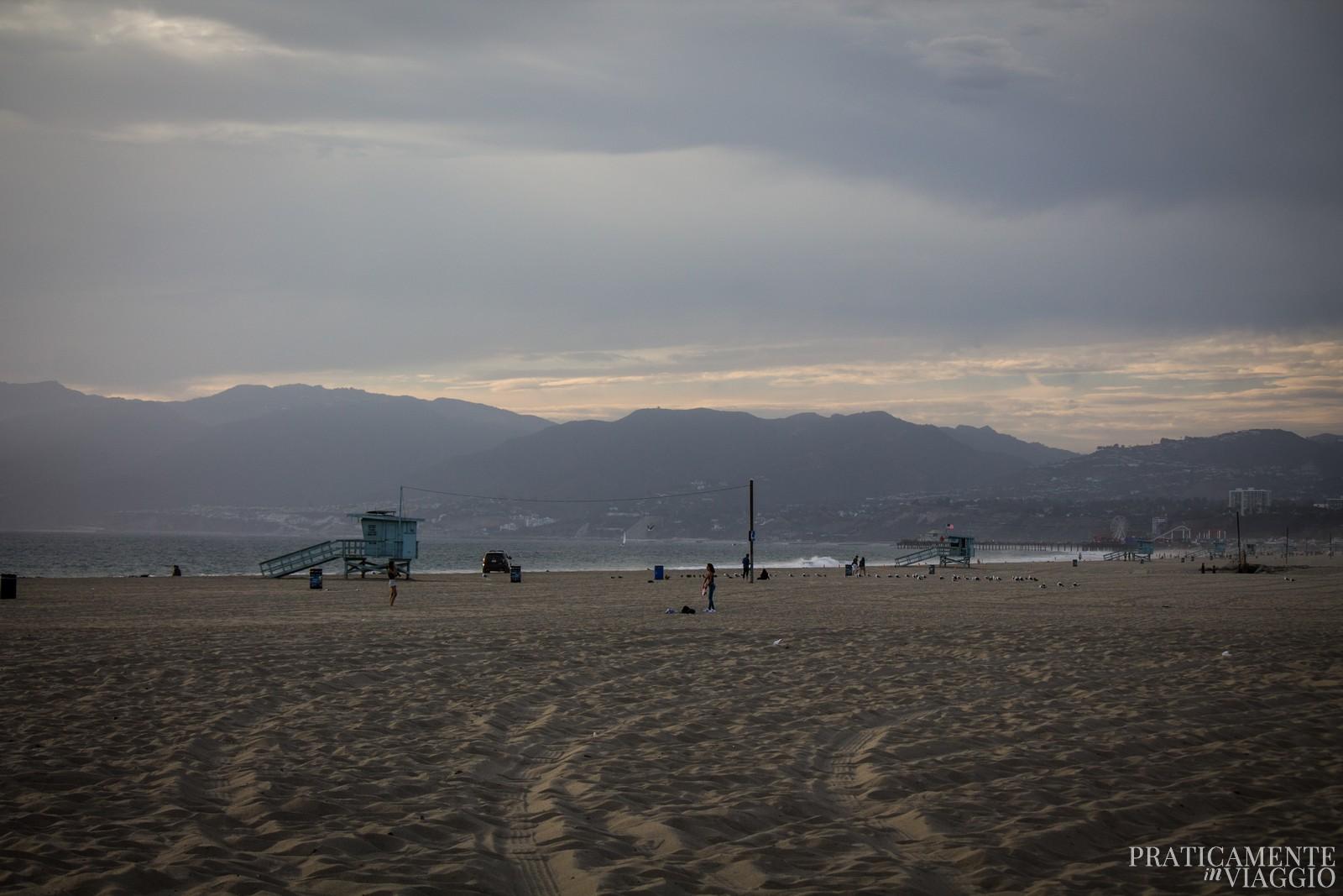 Tramonto sulla spiaggia di Venice Beach