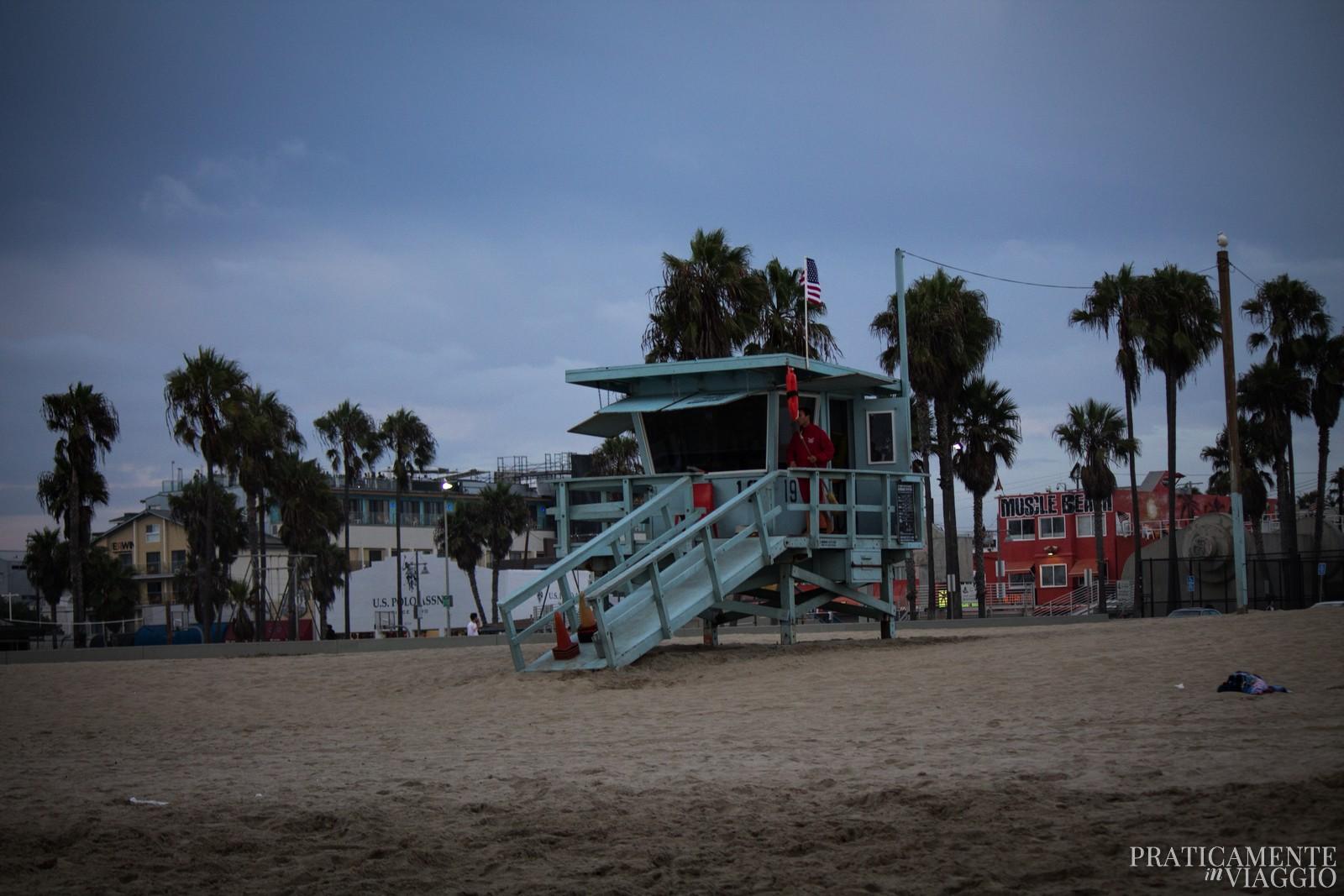 Torretta dei baywatch a Venice beach